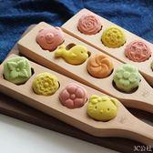 木憶烘焙工具紫薯綠豆山藥糕點南瓜餅乾饅頭冰皮木質月餅模具    3C公社