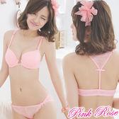 內衣 歐系無痕★蕾絲美背前扣深V舒適A-C罩杯(粉) 粉紅薔薇