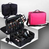 專業隔板收納大號化妝箱包化妝師跟妝手提美容工具包紋繡工具箱女「輕時光」