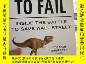 二手書博民逛書店英文版Too罕見Big to Fail Inside the B
