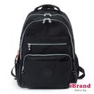 【i Brand】經典百搭超輕盈多口袋後背包-百搭黑 TGT-1604-BK