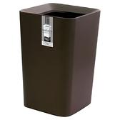 日本ASVEL方形雙層垃圾桶6.6L-咖啡