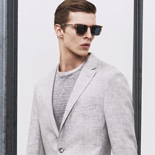 HUGO BOSS 太陽眼鏡 HB0755FS K8EPT (流線透棕) 名品時尚知性經典款 # 金橘眼鏡