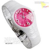 RELAX TIME RT-26-30 白陶瓷錶 馬卡龍色調 糖果桃粉 普普點點 錐型切割藍寶石水晶 37mm 女錶