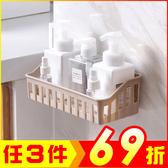 加厚鏤空浴室廚房置物收納架 強力無痕貼 免打孔【AP07009】JC生活百貨