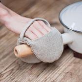 無印風棉麻鍋耳套隔熱手套厚麻料指尖用 烤箱微波爐手套·Ifashion