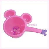 asdfkitty可愛家☆米妮造型粉紅色小水瓢/小水勺-小容量.不過重.好拿好握-訓練幼童洗澡-日本製