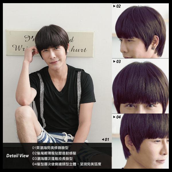 乖乖男平瀏海假髮【M064004】*韓國假髮 男假髮 男用假髮◆MFH造型假髮◆