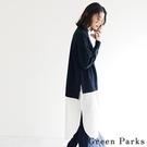 「Winter」針織x襯衫拼接特色連身裙 - Green Parks