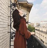 BabyShare時尚孕婦裝【KR859】現貨 孕婦裝 韓國 加大尺碼 長版 慵懶連身帽T壓紋布料 線條感滿分