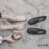 英倫小皮鞋女學院風韓版百搭樂福鞋軟皮平底單鞋【毒家貨源】