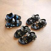 男童涼鞋2018新款夏季韓版寶寶防滑小孩鞋潮中大童兒童鞋子沙灘鞋 美芭