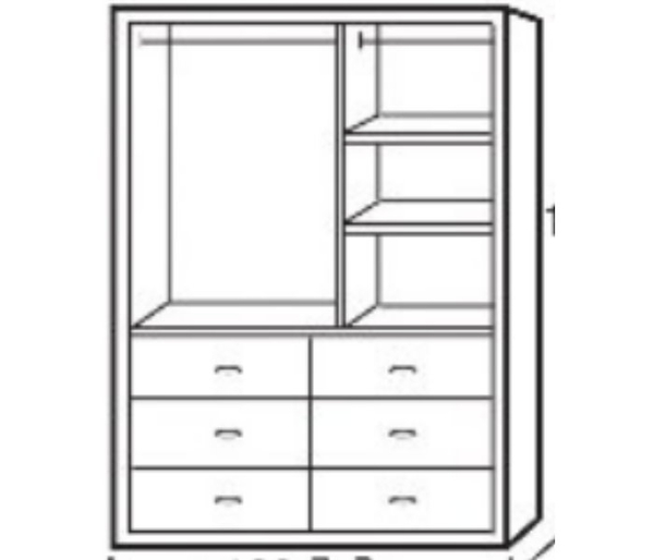 衣櫃 衣櫥 PK-218-4 玉桂實木4X7尺衣櫥【大眾家居舘】