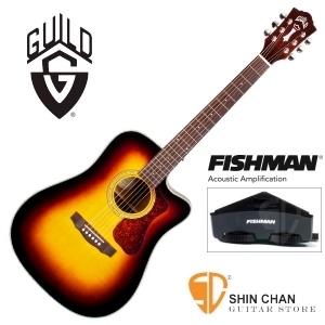 美國經典品牌 Guild D-140CE SB 可插電切角全單板吉他/夕陽色/標準D桶/Fishman拾音器 附原廠吉他袋