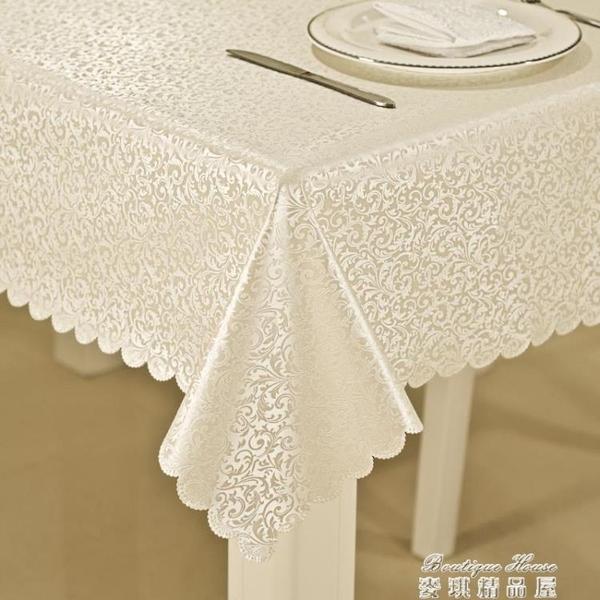 桌布防水防燙防油免洗茶幾桌布桌墊臺布餐桌布歐式長方形家用 麥琪精品屋