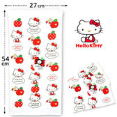 紗布童巾  Kitty 純棉童巾  凱蒂貓與點點紅蘋果款  三麗鷗 Sanrio