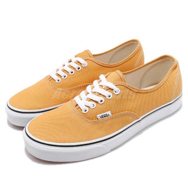 【六折特賣】Vans Authentic 黃 白 滑板鞋 帆布鞋面 膠底設計 休閒鞋 運動鞋 男鞋【PUMP306】 181010157