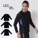 粉紅拉拉【PUNI517001】UNIONE MIT 台灣製造 剪接風格 印花機能長T 舒適好穿 長袖T恤 M-XXL
