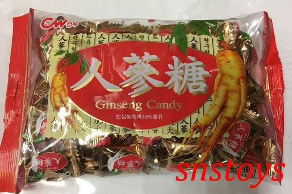 sns 古早味 進口食品 韓國 人蔘糖 青右人蔘糖 160公克