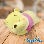 【日本進口】SEGA Disney迪士尼 景品 小熊維尼 趴姿 絨毛娃娃 維尼款