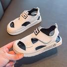 男童包頭涼鞋新款真皮兒童沙灘鞋軟底小童女童鞋子中大童 錢夫人小舖