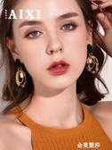 韓國版時尚復古耳環女新款豹紋長耳墜925銀針耳釘高級感氣質耳飾 金曼麗莎