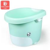 小哈倫兒童洗澡桶嬰兒浴盆寶寶浴桶可坐躺小孩用品泡澡沐浴桶大號