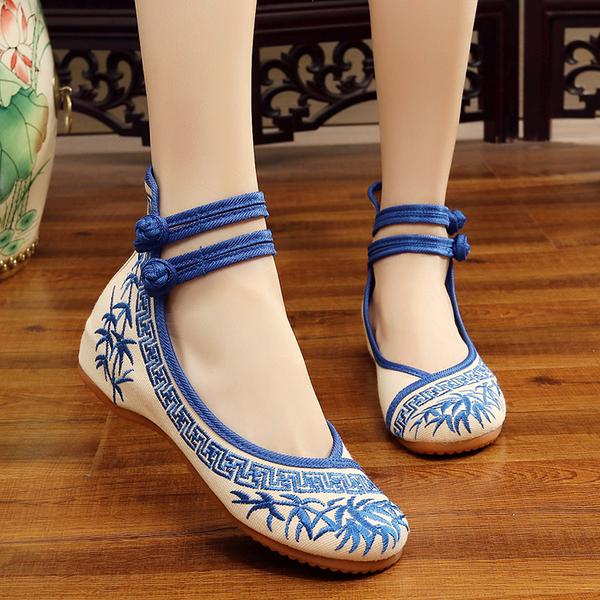 文人墨客中國風青花瓷系列繡花布鞋【多多鞋包店】z6807