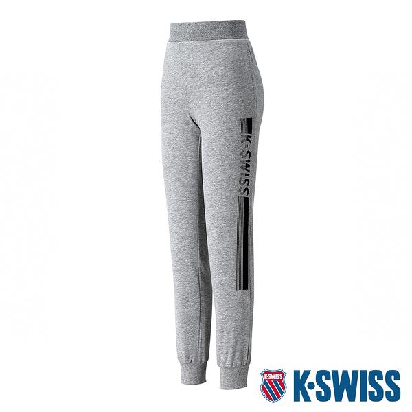 【超取】K-SWISS Ks Waist Band Sweat Pants棉質運動長褲-女-灰