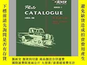 二手書博民逛書店Land罕見Rover Series 1 1954-58 Parts Catalogue (4107)-Land