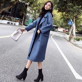 毛呢外套  中長款韓版2018新款冬季赫本風呢大衣