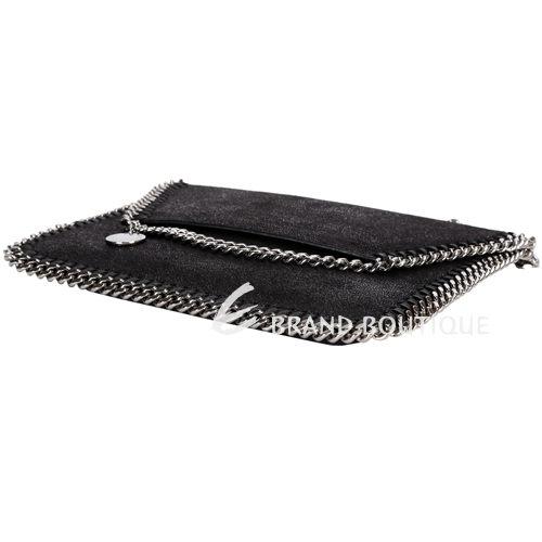 Stella McCartney Falabella 信封造型鍊帶肩背包(黑色) 1430119-01
