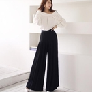 兩件套襯衫長褲S-XL氣質一字領上衣時尚職業闊腿褲套裝NE49-7507.皇潮天下