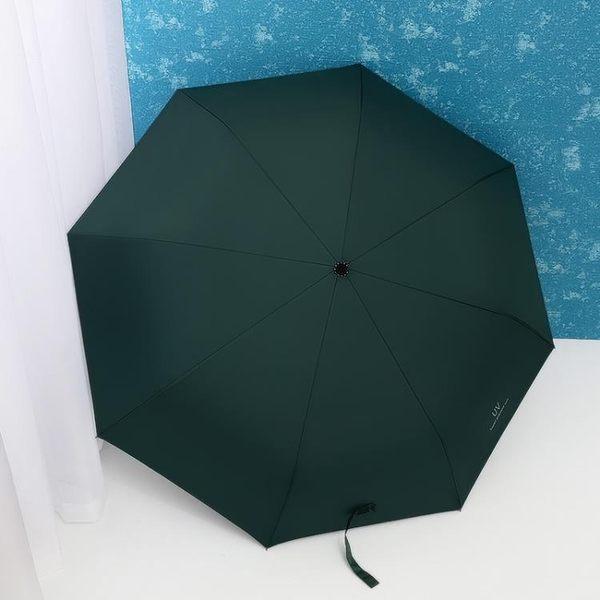 遮陽傘 晴雨傘折疊女兩用黑膠大號雙人三折太陽傘防曬防紫外線清新遮陽傘