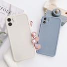 iPhone12 蘋果手機殼 預購 可掛繩 氣質簡約純色 矽膠軟殼 i11/iX/i8/i7/SE