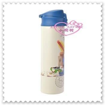 小花花日本精品♥Stitch 史迪奇&Sukuranpu 保溫保冰 直口飲 不鏽鋼 保溫瓶 500ml 96508602