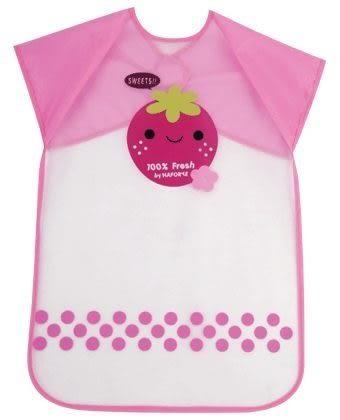 『121婦嬰用品館』Naforye 拉孚兒 擦可淨用餐圍兜 ( 加長型 ) - 草莓