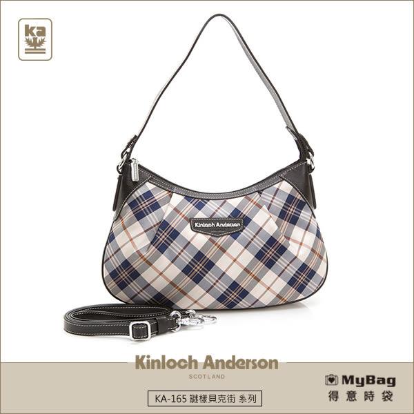 Kinloch Anderson 金安德森 手提包 謎樣貝克街  黑色 經典格紋 斜側肩背包  KA165004BKF MyBag得意時袋