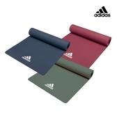 Adidas  Yoga輕量波紋瑜珈墊 - 8mm (寶石紅)