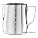 金時代書香咖啡 Tiamo 砂光專業內外刻度指示拉花杯 600ml SGS合格 HC7084