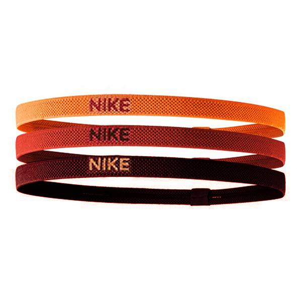 Nike Elastic Hairbands [NJN04957OS] 女 髮帶 髮束 寬版 運動 止滑 黃紅棕 3入