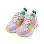 KANGAROOS 多彩運動老爹鞋 紫黃 KK11867 中大童鞋