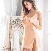 睡衣 Ladoore 夜訪德古拉 絲緞蕾絲性感睡衣(粉)