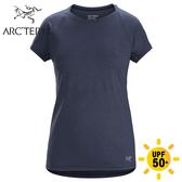 【ARC TERYX 始祖鳥 女 Taema快乾短袖圓領衫《氣層藍》】25138/圓領短袖/運動短袖/短袖上衣