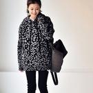 豹紋織花針織上衣 連帽長袖毛衣 套頭打底針織衫-夢想家-M6310C-0112