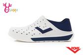 PONY水鞋 男鞋 女鞋 水涼鞋 洞洞鞋 可踩後跟 懶人鞋 水陸鞋 快乾 透氣 軟底  L9431#白藍