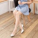 8D超薄T檔珠光微亮透膚絲襪褲襪 (粉色)