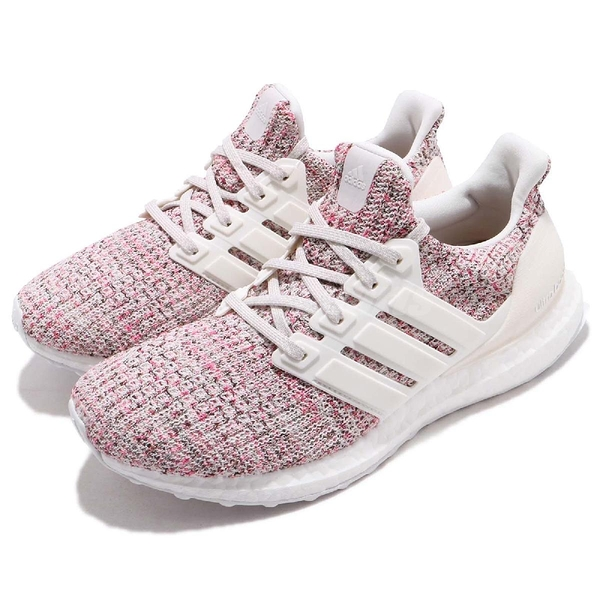 【六折特賣】adidas 慢跑鞋 Ultra Boost W 4.0 彩虹 彩色 白 緩震舒適 運動鞋 女鞋【PUMP306】 BB6496