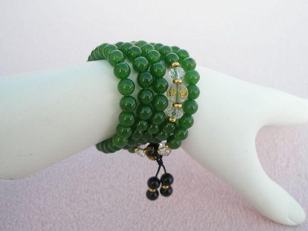 【歡喜心珠寶】【綠瑪瑙圓珠6mm108顆念佛珠】念珠.天然巴西綠瑪瑙「附保証書」超低價售出!