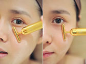 日本瘦臉神器24K電動美容棒黃金棒面部美容儀瘦下巴提拉緊致去皺